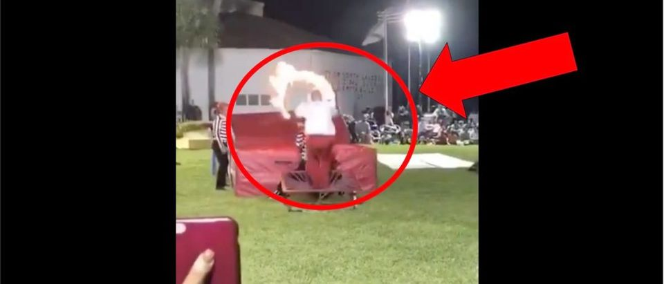 Hoop Jump Video (Credit: Screenshot/Twitter Video https://twitter.com/barstoolsports/status/1267510102501834755)