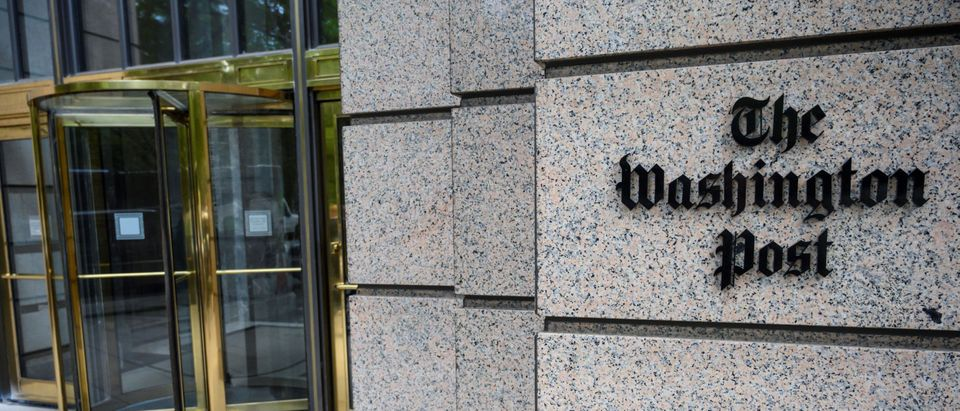 The building of the Washington Post newspaper headquarter is seen on K Street in Washington DC on May 16, 2019. (ERIC BARADAT/AFP via Getty Images)