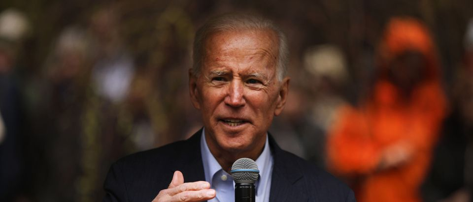 Former Vice President Joe Biden Campaigns In New Hampshire For First Time Since Announcing Presidential Bid