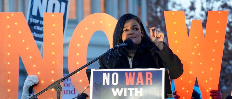 """""""No War With Iran"""" Rally At U.S. Capitol"""