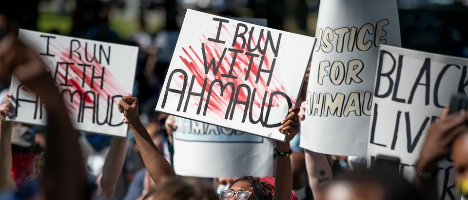 Georgia NAACP Holds Protest For Shooting Death Of Jogger Ahmaud Arbery