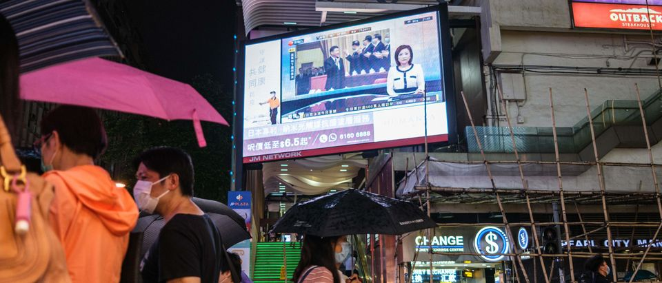 Chinese TV network broadcasted in Hong Kong