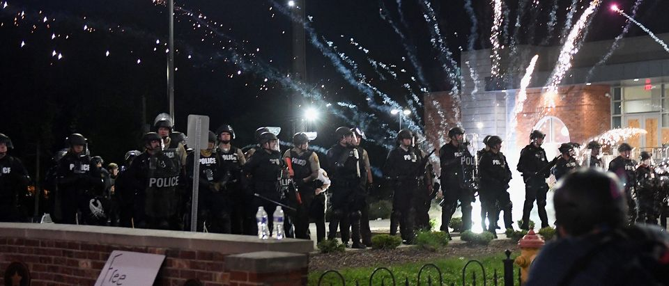 Protesters Demonstrate In Ferguson, Missouri Against Death Of George Floyd By Police Officer In Minneapolis