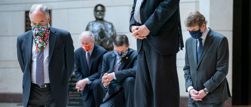 Senate Democratic Caucus Holds 8 Minutes 46 Seconds Of Silence At U.S. Capitol