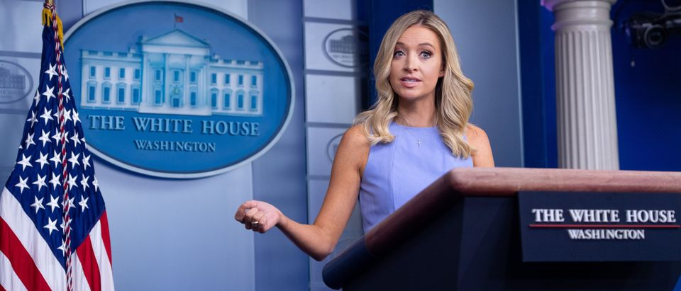 White House Press Secretary Kayleigh McEnany holds a press briefing at the White House in Washington, DC, June 17, 2020. (Photo by SAUL LOEB/AFP via Getty Images)