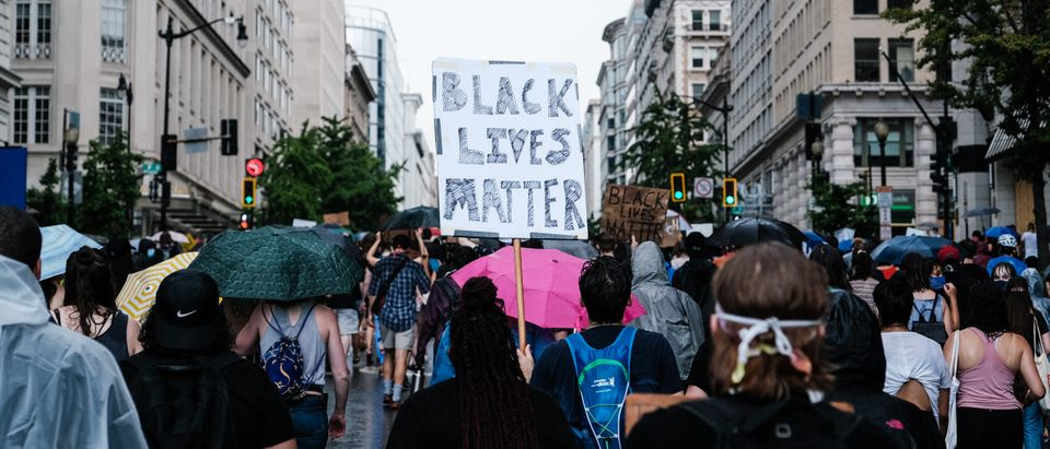 Protesters march to support Black Lives Matter and to mark the liberation of slavery on June 19, 2020 in Washington, DC. (Michael A. McCoy/Getty Images)