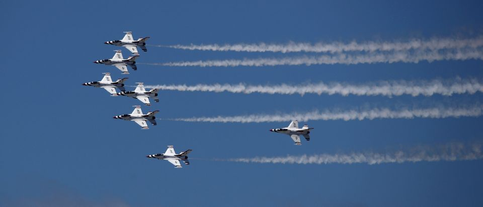 USAF Thunderbirds Fly Over Southern California In Salute Frontline COVID-19 Workers