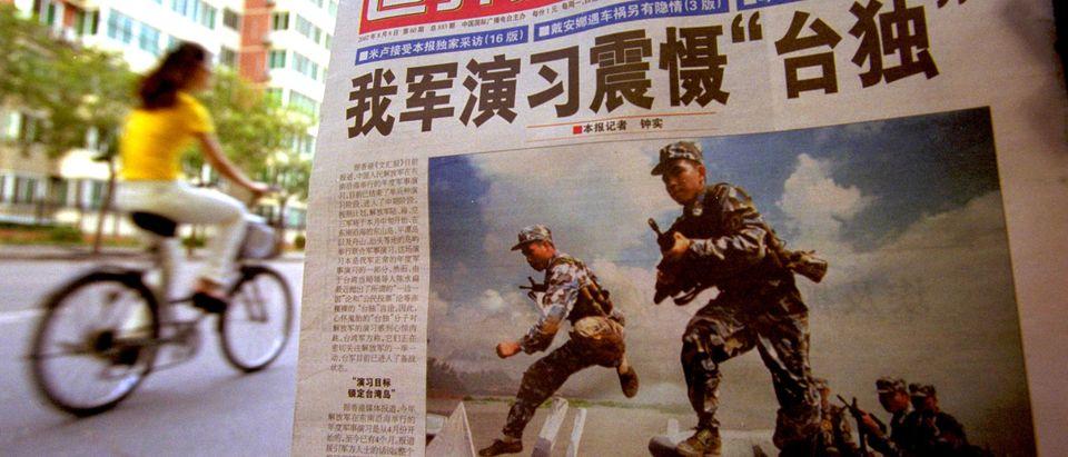 China Uses Headlines to Warn Taiwan