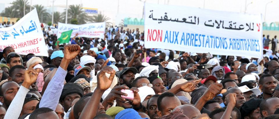 MAURITANIA-DISCRIMINATION-HUMAN-RIGHTS-SLAVERY-DEMO