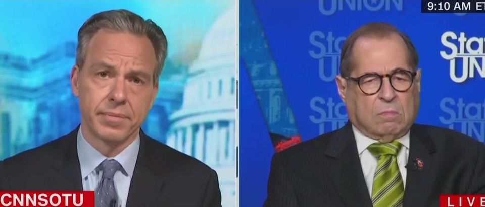 Jake Tapper presses Jerry Nadler on impeaching Trump (CNN screengrab)