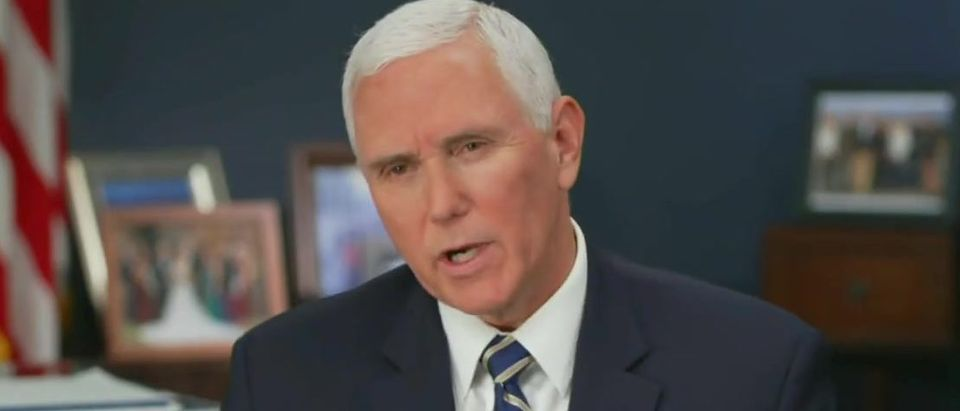 Mike Pence refuses to say Black Lives Matter (CBS screengrab)