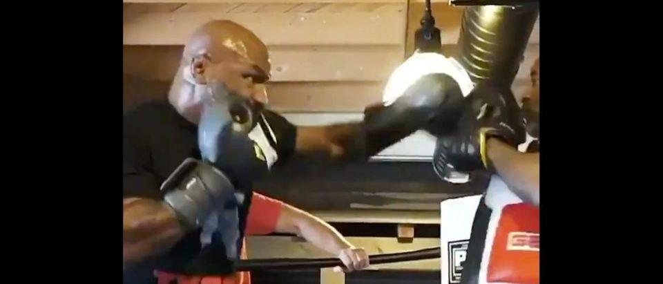 Mike Tyson (Credit: Screenshot/Twitter Video https://twitter.com/ESPNRingside/status/1275195338622676992)