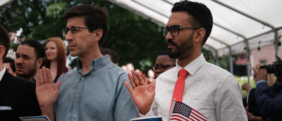 Naturalization Ceremony Held For New Citizens In Brooklyn Farmhouse Museum