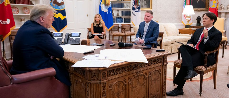 Donald Trump, Vince Coglianese, Christian Datoc, Geoff Ingersoll, Kayleigh McEnany (Official White House photographer)