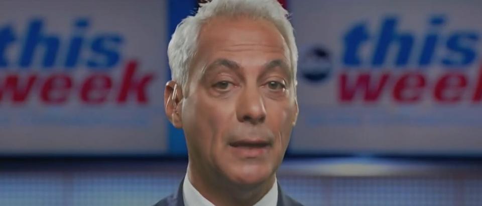 Rahm Emanuel defends Grant statue (ABC screengrab)