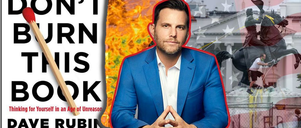 """Dave Rubin and """"Don't Burn This Book"""" (Daily Caller/Richie McGinniss)"""