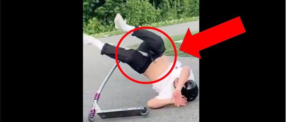Scooter Groin Injury (Credit: Screenshot/Twitter Video https://twitter.com/barstoolsports/status/1276155093084233731)
