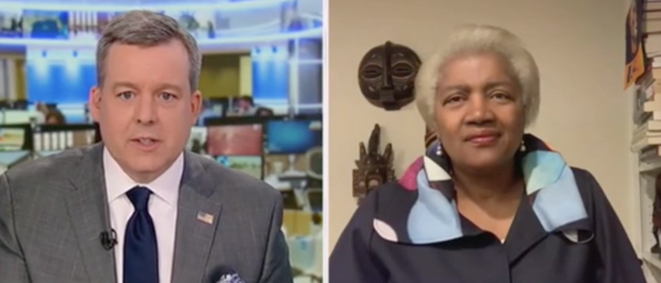 Donna Brazile speaks with Ed Henry on Fox News. Screenshot/Fox News