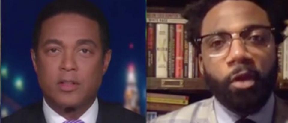 "Don Lemon and Donte Stallworth appear on ""CNN Tonight."" Screenshot/CNN"