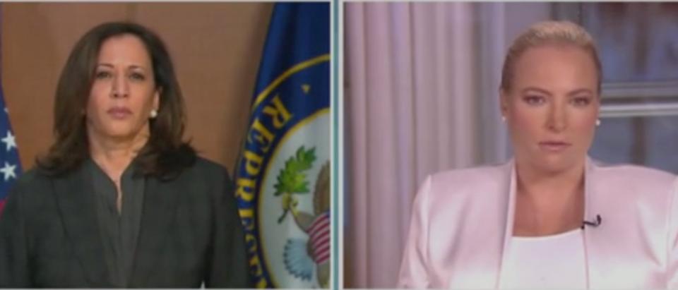 "Kamala Harris and Meghan McCain appear on ""The View."" Screenshot/ABC"