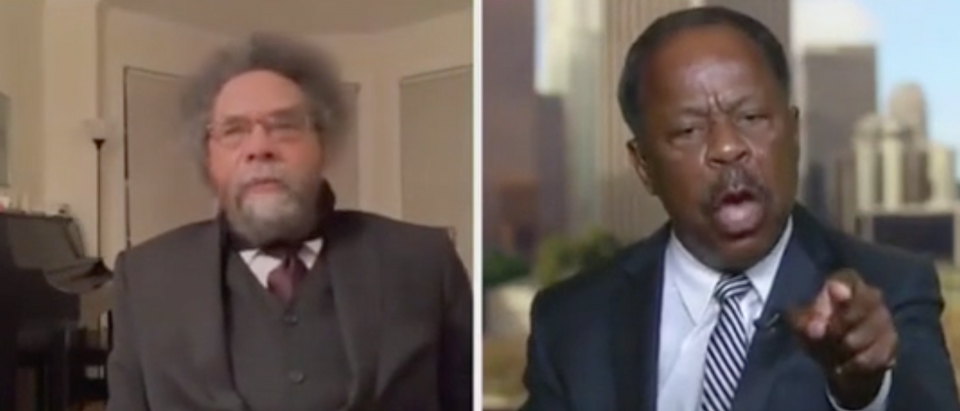 "Cornel West and Leo Terrell appear on ""Hannity."" Screenshot/Fox News"