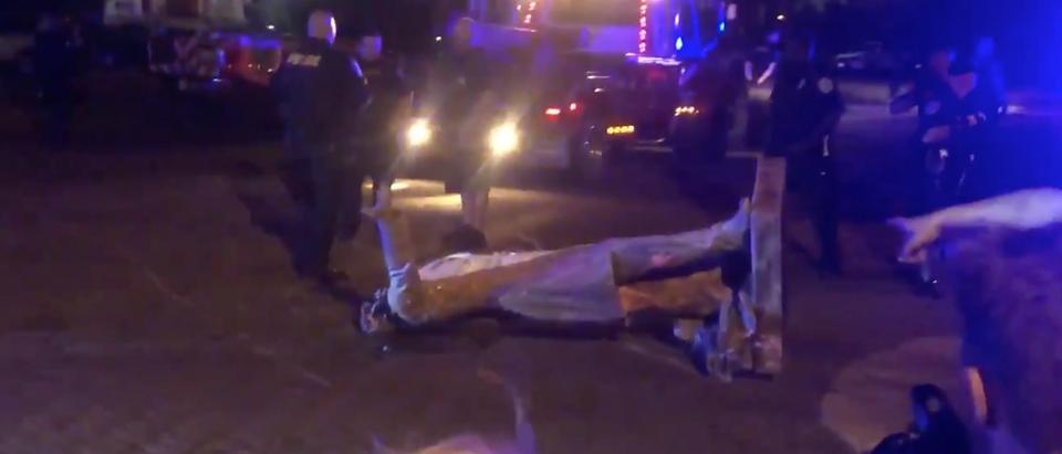 Jefferson Davis Statue Toppled