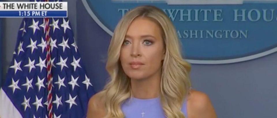 WH Press Secretary Kayleigh McEnany holds a briefing. Screenshot/Fox News
