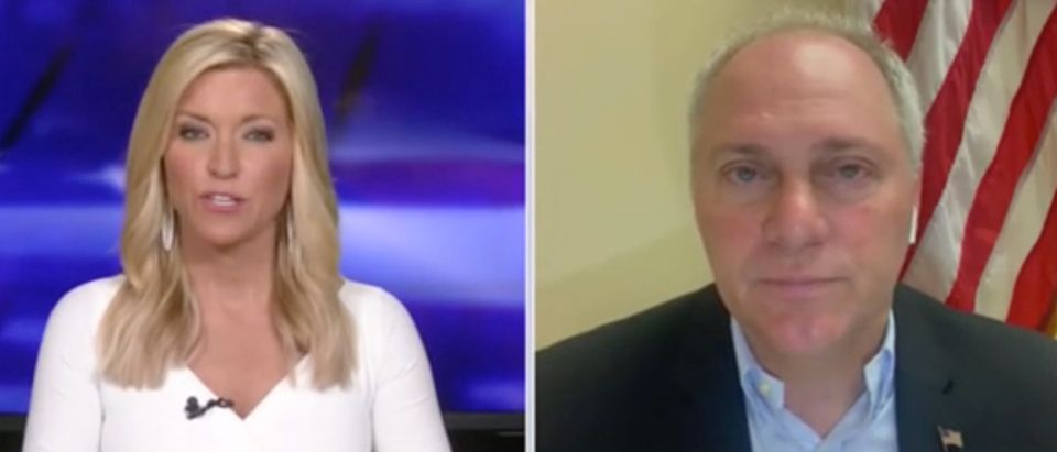 Ainsley Earhardt speaks with Louisiana Republican Rep. Steve Scalise. Screenshot/Fox News
