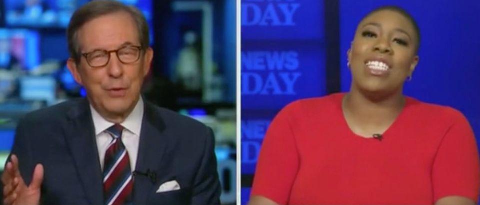 Chris Wallace speaks with Symone Sanders. Screenshot/Fox News