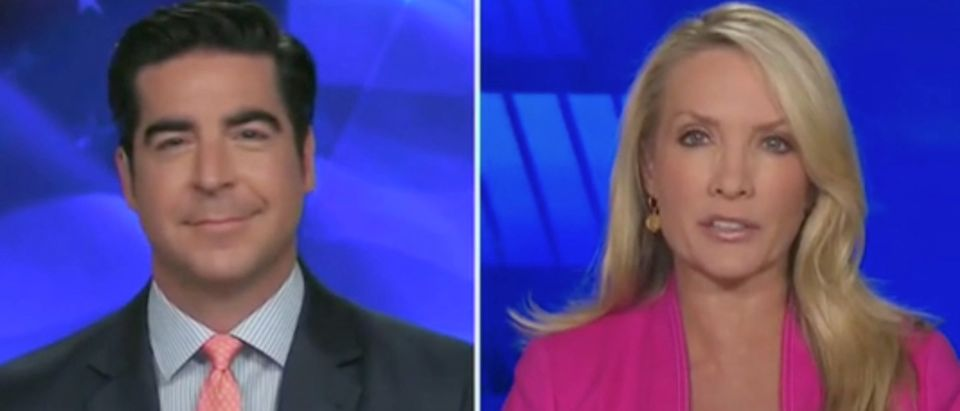 "Jesse Watters and Dana Perino appear on ""The Five."" Screenshot/Fox News"
