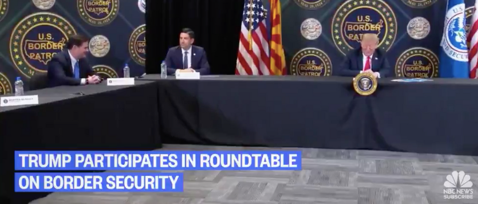 Trump holds roundtable with local Arizona officials and federal authorities (NBC News/screenshot)
