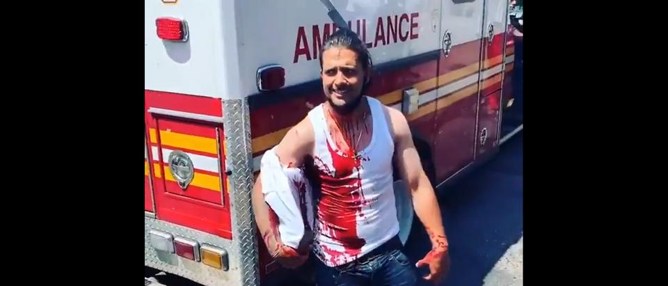 Screenshot of Harlem Man Stabbed in the Head