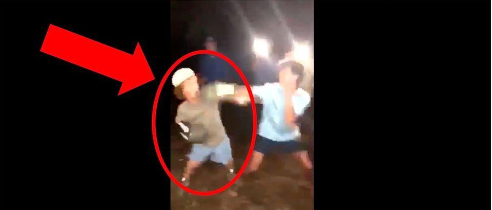 Short Man Fight (Credit: Screenshot/Twitter Video https://twitter.com/OldRowOfficial/status/1268245782798401538)