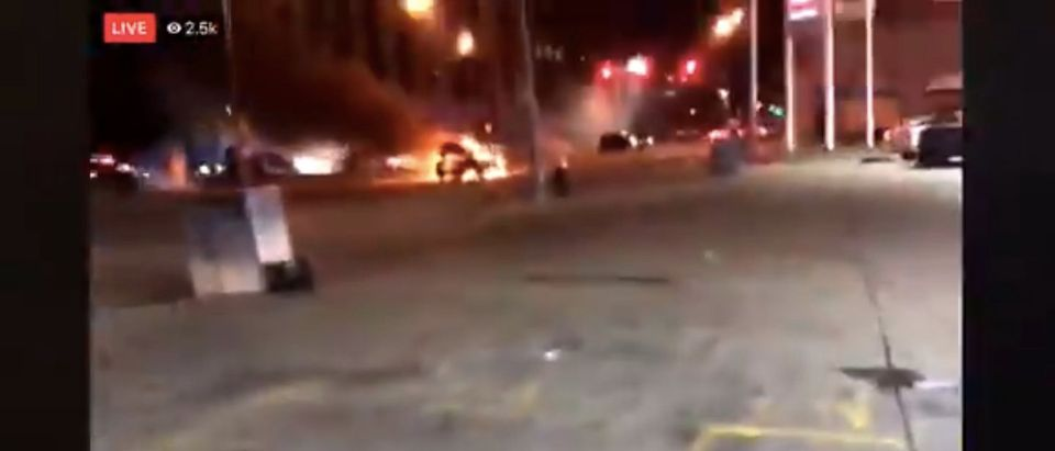 Footage of a shootout in St. Louis, in which four police officers were shot. Screenshot/Twitter/Stillgray