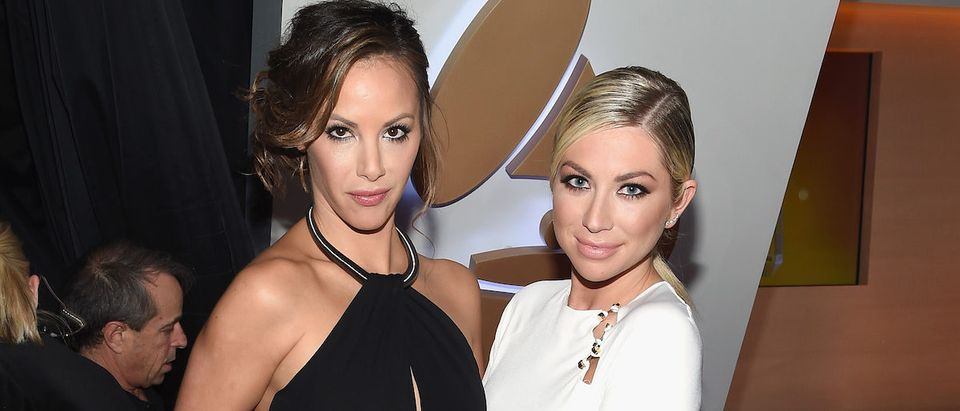 TV personality Kristen Doute (L) and Stassi Schroeder attend The 58th GRAMMY Awards at Staples Center on February 15, 2016 in Los Angeles, California. (Photo by Larry Busacca/Getty Images for NARAS)