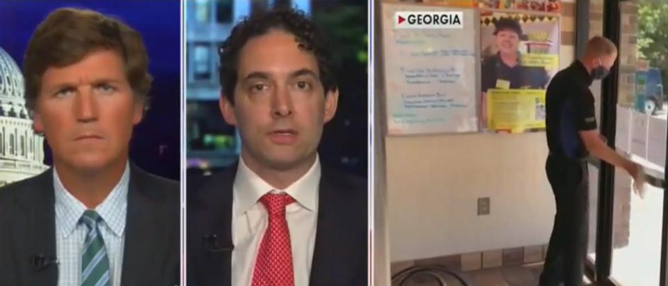 Tucker Carlson, Alex Berenson discuss lockdown effectiveness (Fox News screengrab)