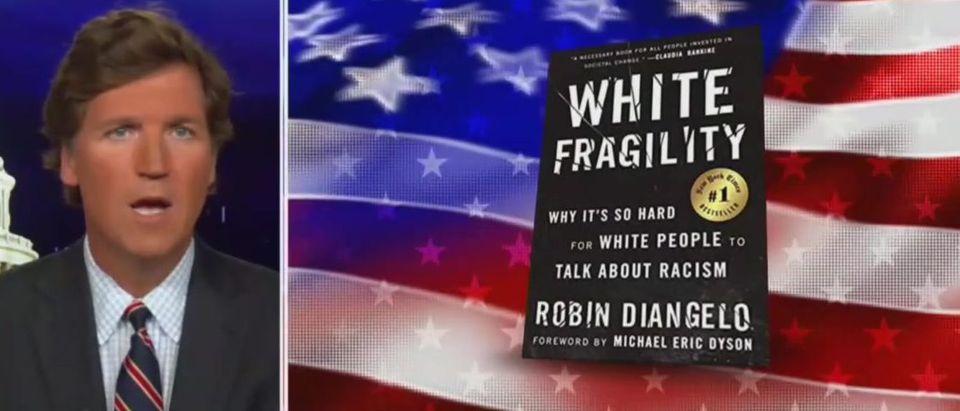 Tucker Carlson deconstructs 'White Fragility' (Fox News screengrab)