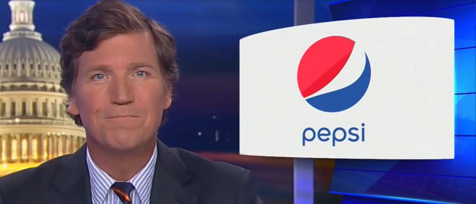Tucker Carlson rips big corporations paying for riots (Fox News screengrab)