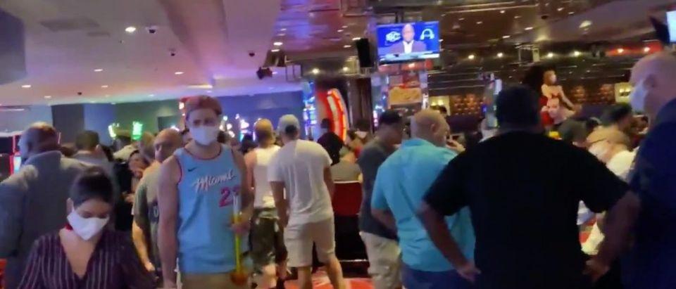 Las Vegas Opening (Credit: Screenshot/Twitter Video https://twitter.com/mickakers/status/1268439955212079104)