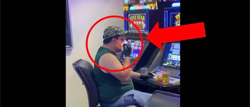 Las Vegas Smoking Video (Credit: Screenshot/Twitter Video twitter.com/jedshearer/status/1270202686386827269)