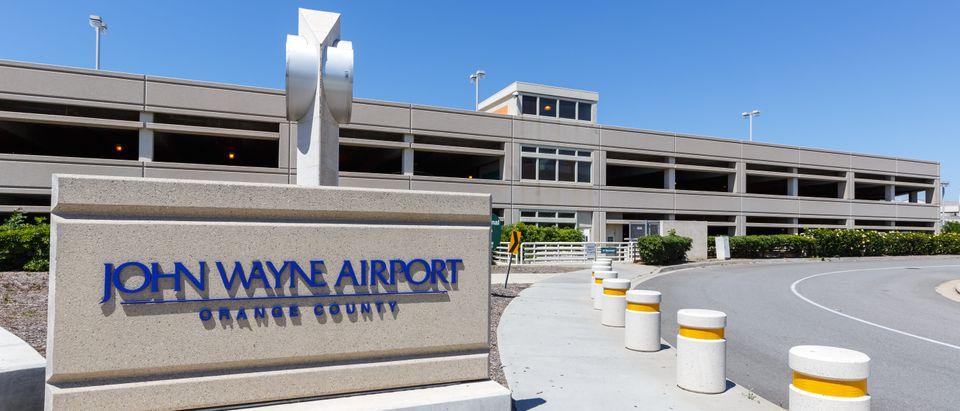 Santa Ana, California – April 13, 2019: Santa Ana John Wayne airport (SNA) in California. (Shutterstock/Markus Mainka)