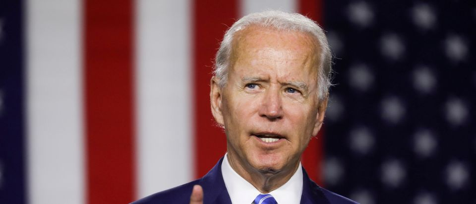 Democratic U.S. presidential candidate Biden speaks at campaign event in Wilmington, Delaware
