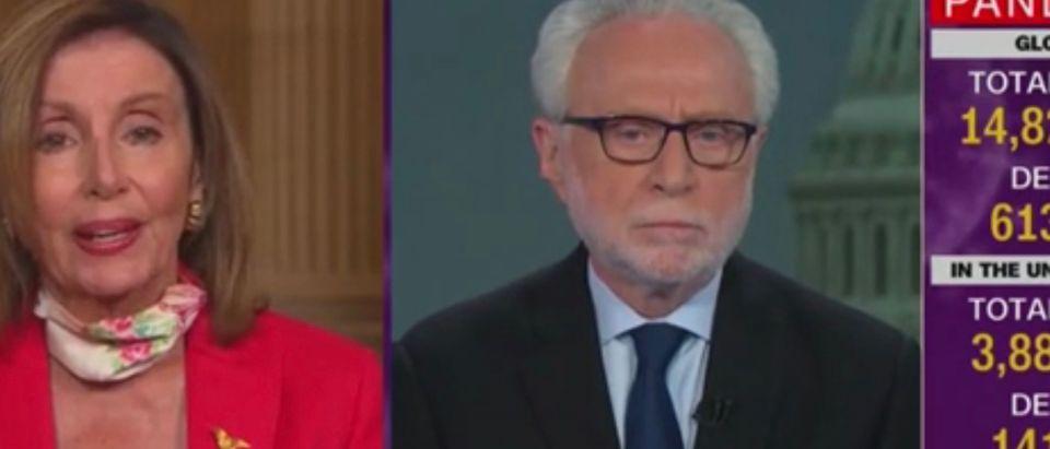 Nancy Pelosi, Wolf Blitzer