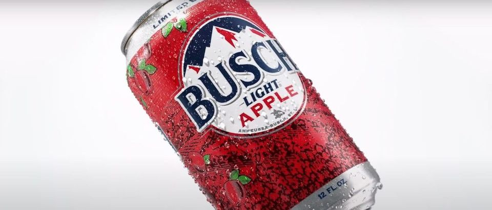 Busch Light Apple Beer (Credit: Screenshot/YouTube https://www.youtube.com/watch?v=CsqCSeyWPKw)