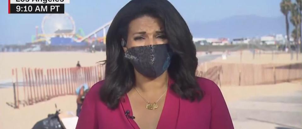 CNN captures California taking a dump on screen (CNN screengrab)
