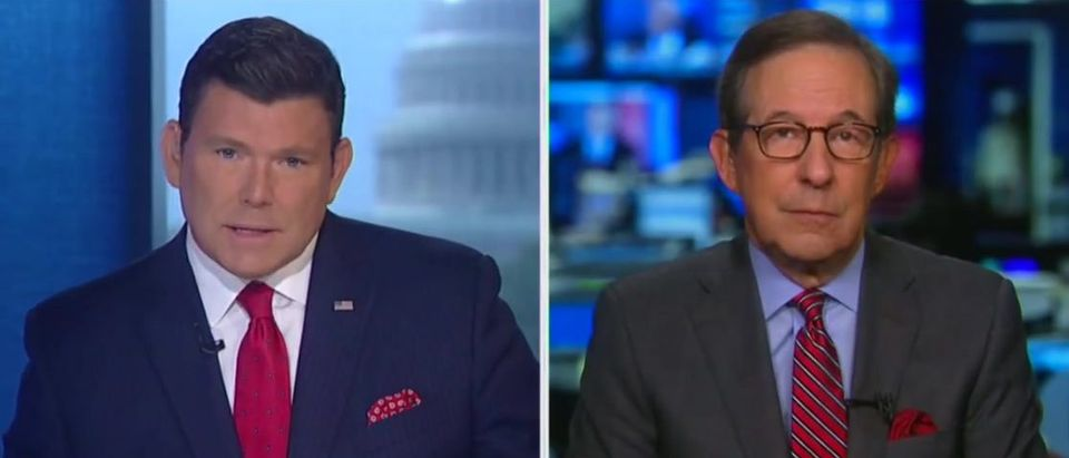 Chris Wallace discusses his interview with President Donald Trump on Fox News with Bret Baier (Fox News/Screenshot)