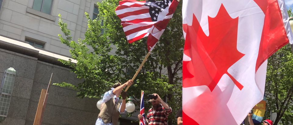 Canada Day protesters