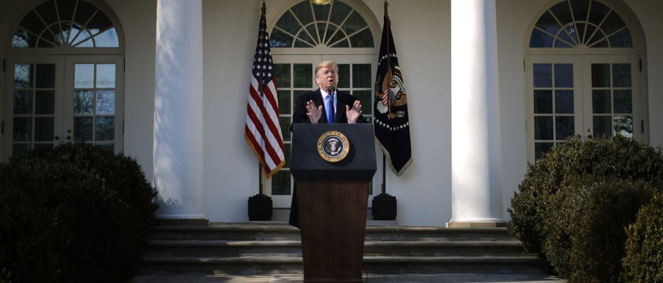 President Trump Discusses National Security And The Southern Border