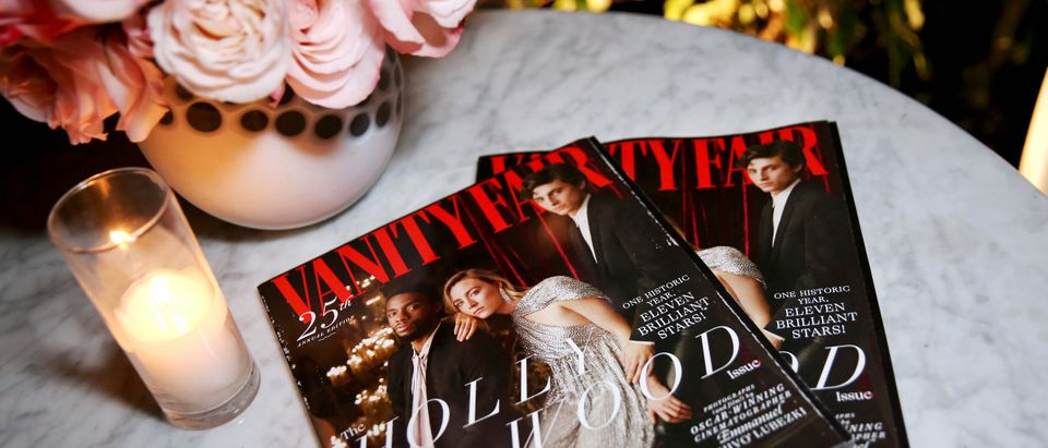 Vanity Fair magazines are seen attends Vanity Fair and Lancôme Toast Women In Hollywood on February 21, 2019 in West Hollywood, California. (Rachel Murray/Getty Images for Vanity Fair)