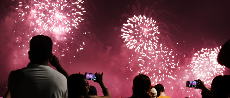 Fireworks Light The Skies Over New York City On The 4th Of July